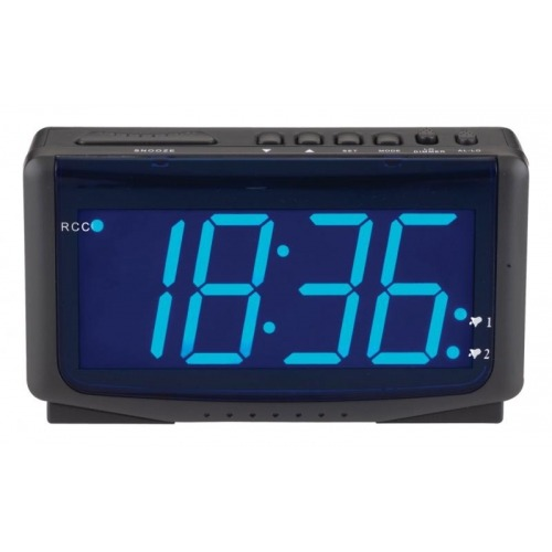 LED alarm clock radio-controlled