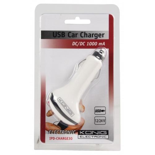 Cargador USB universal para coche 12 - 24 V CC / 5 V CC-1000 mAh