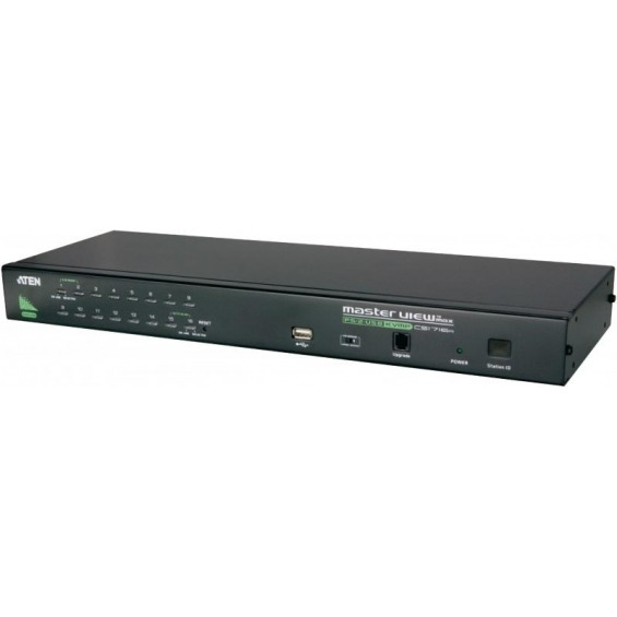 KVM switch, 16-port VGA USBmultisep/PS/2