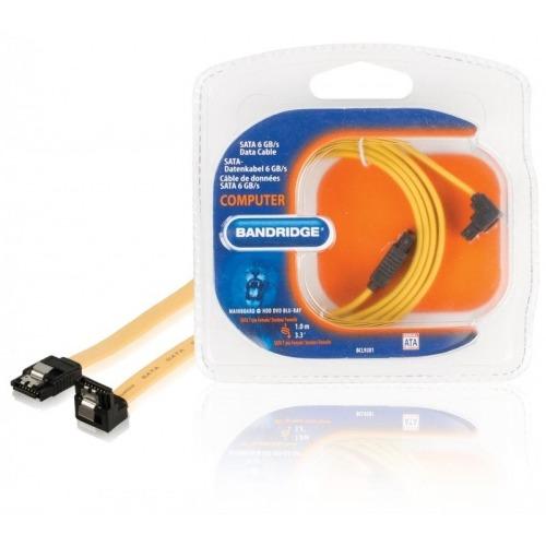 SATA 6 GB/s cable de datos SATA 7-pin hembra - SATA 7-pin hembra 90º angulo 1.0 m amarillo