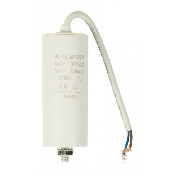 Capacitor 20.0uf / 450 V + cable