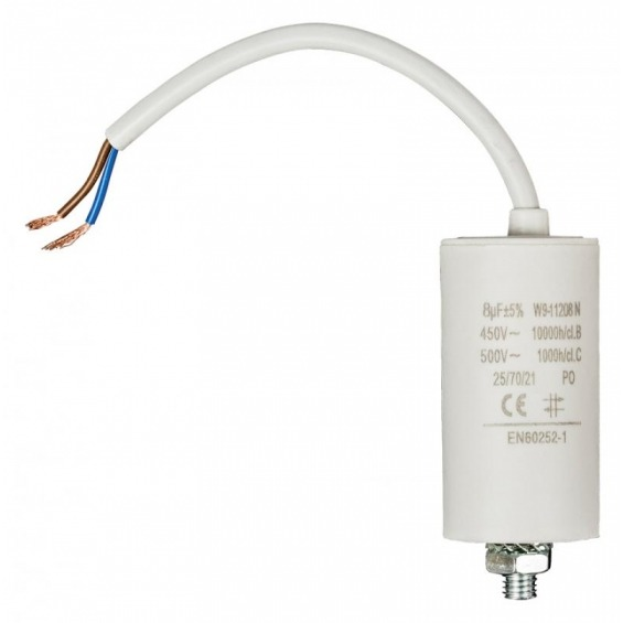 Capacitor 8.0uf / 450 V + cable