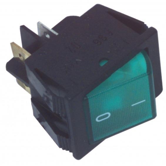 Interruptor On/Off en color verde