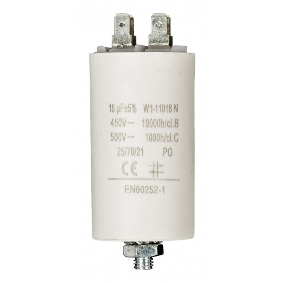 Capacitor 18.0uf / 450 v + earth