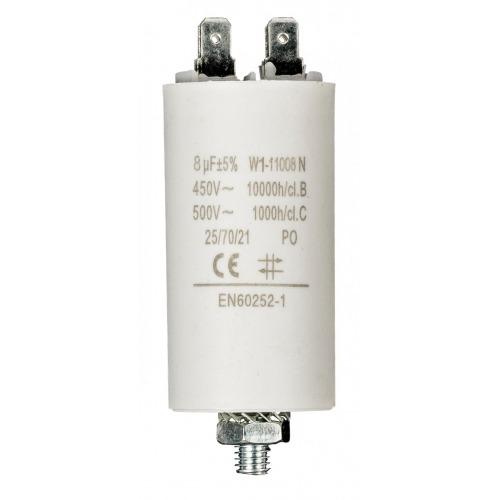 Condensador 8.0uf / 450 V + tierra