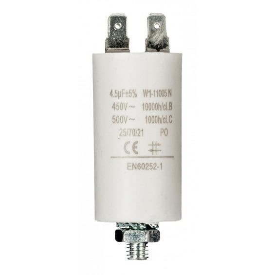 Condensador 4.5uf / 450 V + tierra