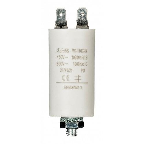 Condensador 3.0uf / 450 V + tierra