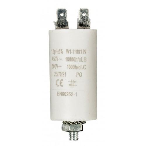 Condensador 1.5uf / 450 V + tierra