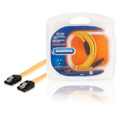 SATA 6 GB/s cable de datos SATA 7-pin hembra - SATA 7-pin hembra 1.0 m en amarillo