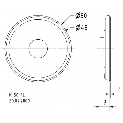 Miniature loudspeaker 5 cm 8 Ohm 8 Ohm 2 W
