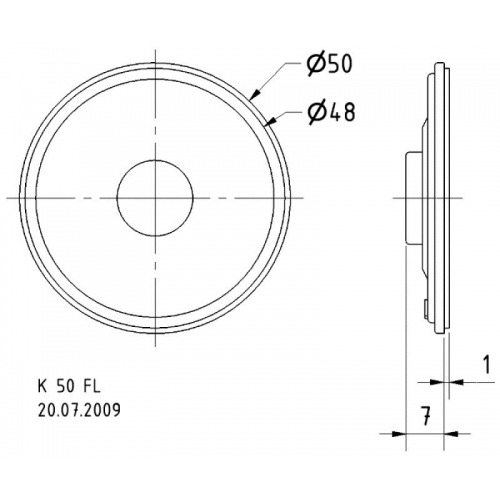 Mini altavoz 5 cm (2