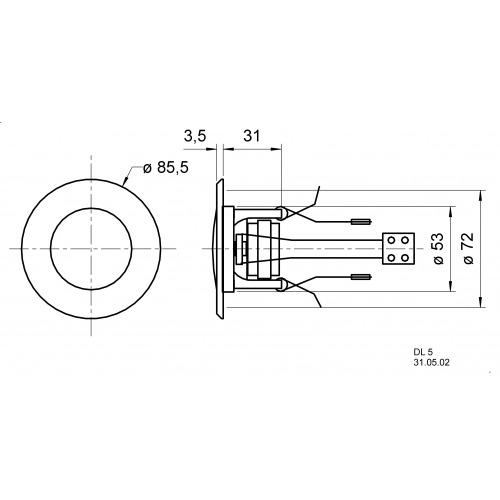 Altavoz de techo 5 cm (2