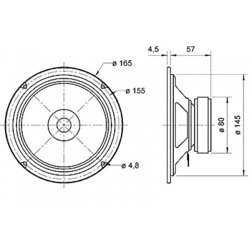 Altavoz full-range de 17 cm (6.5