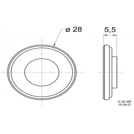 Miniature loudspeaker 8 ? 2 W