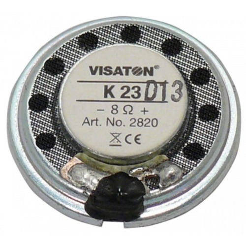Small speaker 2.3 cm (0.9) 8 ? 0.5 W
