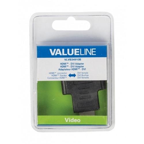 Adaptador HDMI - DVI con conector HDMI - DVI hembra en color negro