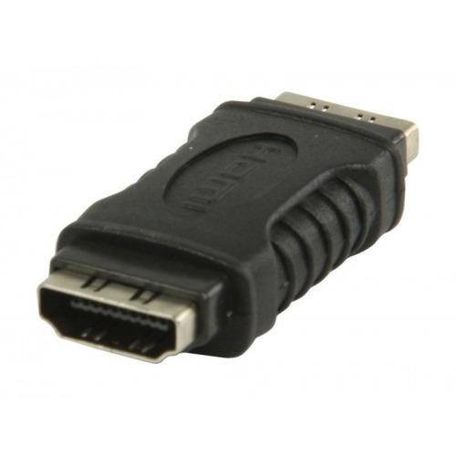 Acoplador HDMI con entrada HDMI - entrada HDMI en color negro