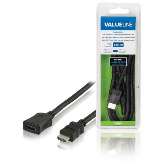 Cable HDMI de alta velocidad con conector HDMI y cable de extensión Ethernet entrada HDMI de 1.00