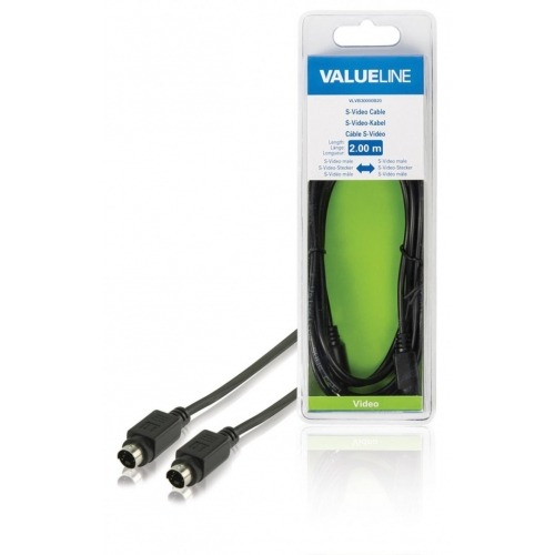 Cable S-Video macho cable S-Video macho de 2.00 m en color negro