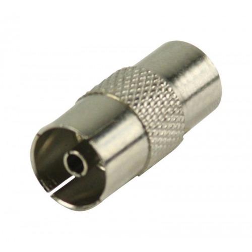 Acoplador coaxial macho - acoplador coaxial hembra metálico