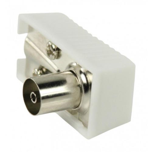 Conectores coaxiales en ángulo conectores coaxiales hembra en ángulo en color blanco