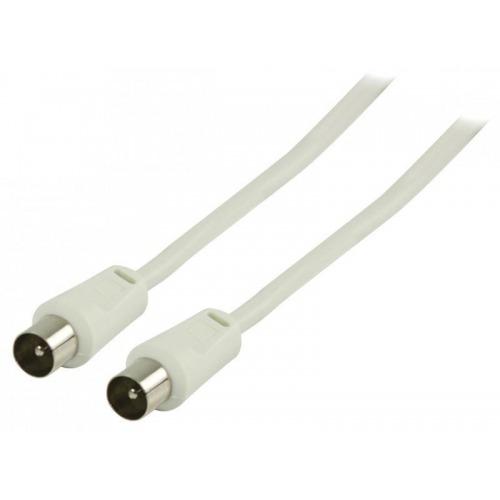 Cable de antena coaxial macho - coaxial macho de 3.00 m en color blanco