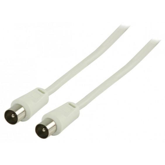Cable de antena coaxial macho - coaxial macho de 25.0 m en color blanco