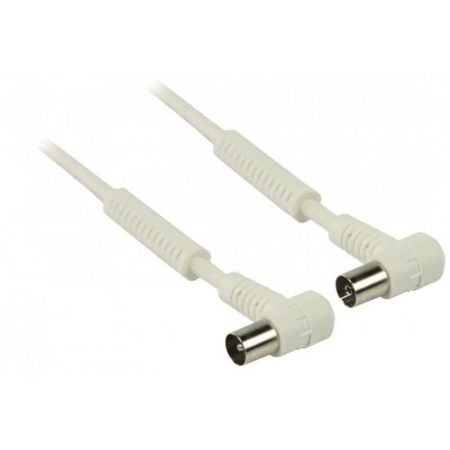 Cable de antena coaxial de 120 dB coaxial macho en ángulo - coaxial hembra en ángulo de 25.0 m en