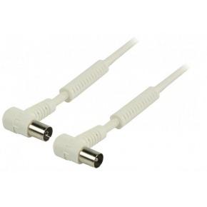 Cable de antena coaxial de 100 dB coaxial macho en ángulo - coaxial hembra en ángulo de 25.0 m en