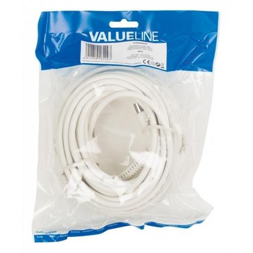 Cable de antena coaxial de 120 dB coaxial macho - coaxial hembra de 10.0 m en color blanco