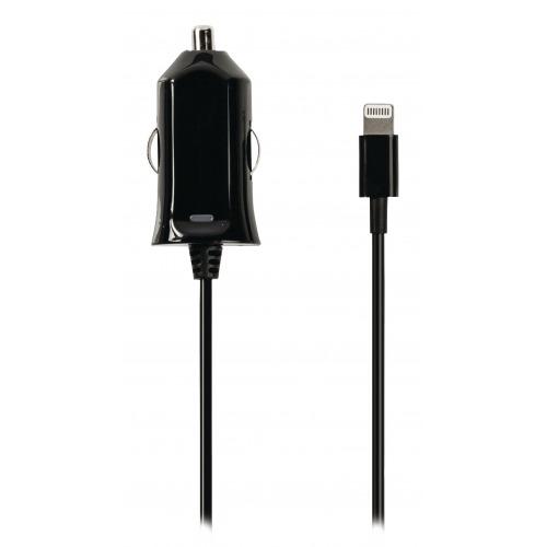 Cargador de automóvil con conector lightning Valueline, lightning macho – conector de automóvil de 12V, 1 m, de color negro 2.4A