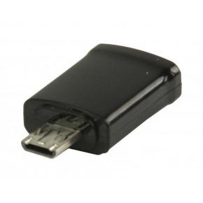 Adaptador MHL, USB 11-pines Micro B macho - USB 5-pines Micro B hembra, negro
