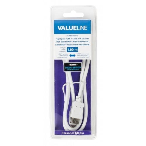 Cable HDMI de alta velocidad con conector HDMI Ethernet - mini conector HDMI de 1.00 m en color bla