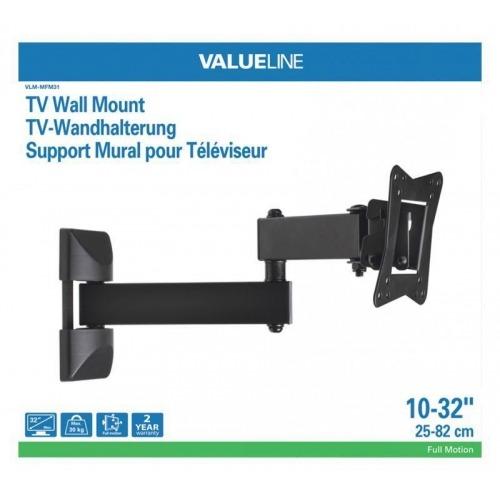 tv wall mount full motion 3-way 10-32 / 25-82 cm 30 kg