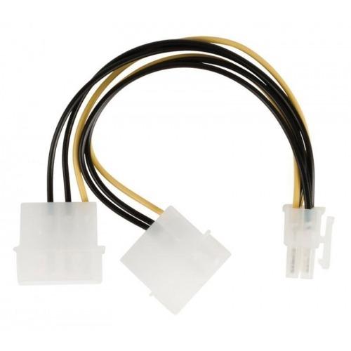 Cable divisor de alimentación interna, PCI Express hembra – 2 x Molex macho, 0,15 m multicolor