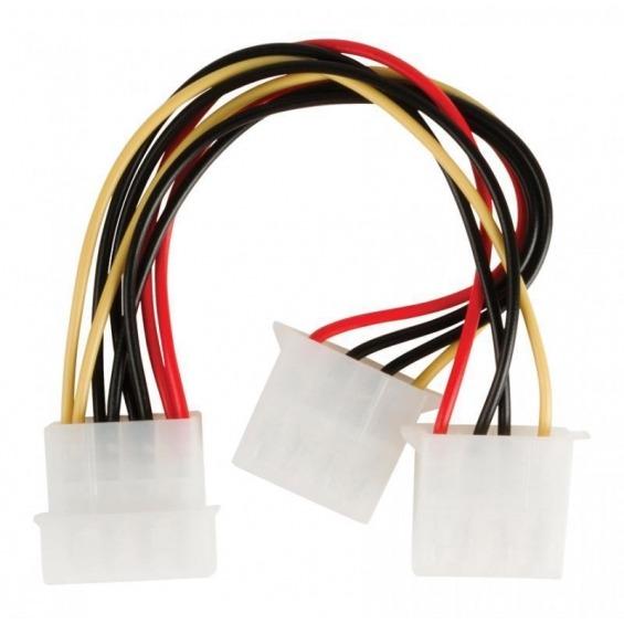 Cable divisor de alimentación Molex, Molex macho – 2x Molex hembra, 0,15 m multicolor