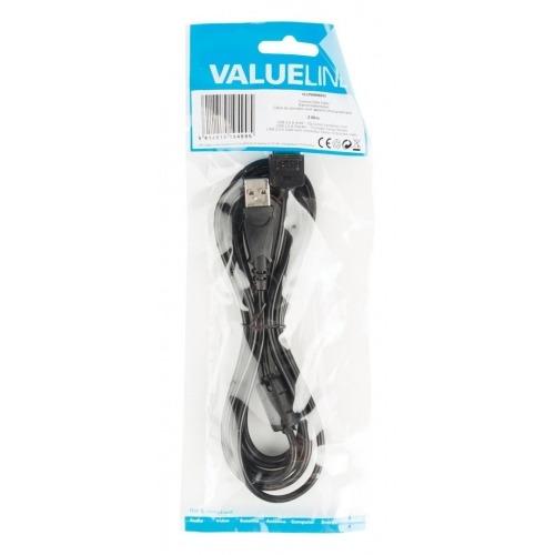 Cable de datos para cámara USB 2.0 A macho - conector Canon de 12p macho de 2,00 m en color negro