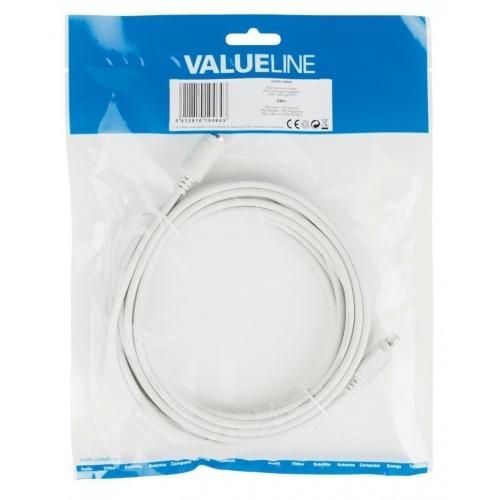 Cable alargador PS2 de PS2 macho - PS2 hembra de 5,00 m en color marfil Valueline