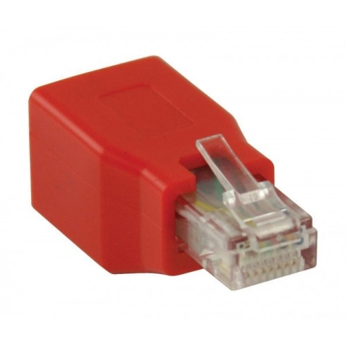 Adaptador de red, RJ45 macho – RJ45 hembra, rojo