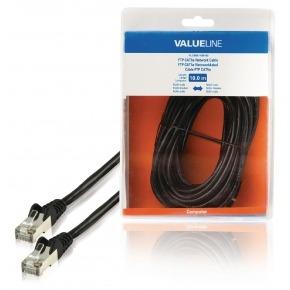 Cable de red FTP CAT5e, RJ45 macho – RJ45 macho, 10,0 m, negro