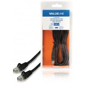 Cable de red UTP CAT5e, RJ45 macho – RJ45 macho, 3,00 m, negro