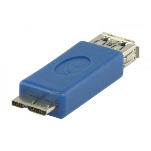 Adaptador USB 3.0 USB B Micro macho- USB A hembra en color azul