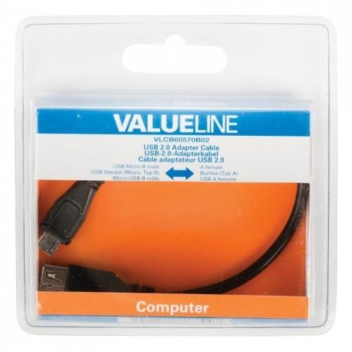 Cable USB 3.0 USB A macho – USB A macho 2,00 m en color azul