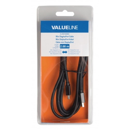 Cable Mini DisplayPort macho - Mini DisplayPort macho de 2,00 m en color negro
