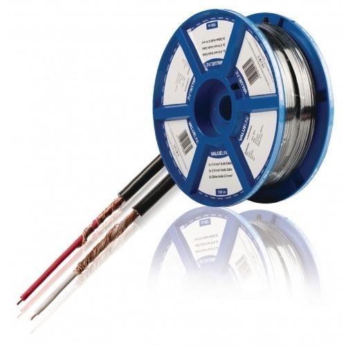 2 cables de audio de 0,14 mm² 100 m en color negro