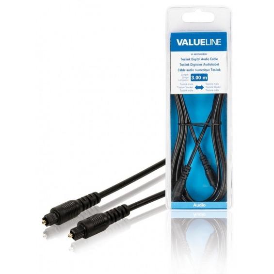 Cable de audio digital Toslink macho - Toslink macho de 3.00 m en color negro