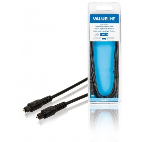 Cable de audio digital Toslink macho - Toslink macho de 2.00 m en color negro