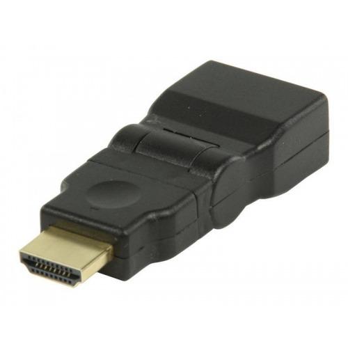 Adaptador HDMI con conector giratorio HDMI - entrada HDMI en color negro