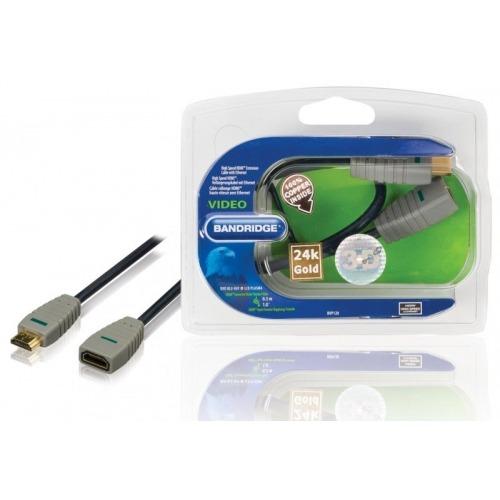 Cable HDMI de alta velocidad con extension Ethernet conector HDMI - HDMI input 0.30 en azul