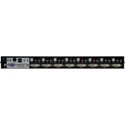 KVM switch 8-port DVI-I USB 2.0